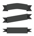 black ribbon banner on white background flat vector image