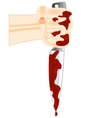 Blood on knife vector image vector image