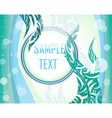 Blue and green layout vector image