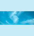 blue sky with clouds feather clouds against vector image