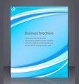 business brochure blue abstract layout template vector image vector image