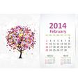 calendar 2014 3 02 vector image vector image