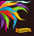 carnival party background with colorful decorative vector image vector image