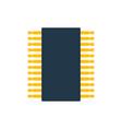 chip icon vector image