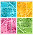 city map set vector image vector image