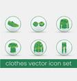 clothes icon set green vector image