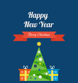 coming new year of christmas gifts and mood vector image vector image