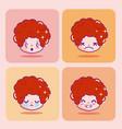 cute boy emojis vector image vector image