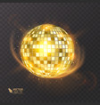 disco ball on isolated background night club vector image