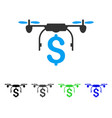 drone business flat icon vector image vector image