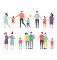family couples non traditional family homosexual vector image
