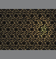 gold geometric jewelry grid on a black background vector image vector image