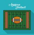 green american football field vector image