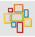 group of colorful frames vector image vector image