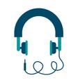 headphones in flat style pink headphones vector image vector image