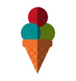 ice cream cone icon image vector image vector image