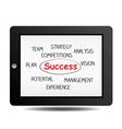 marketing success vector image vector image