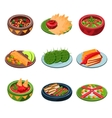 Mexican Traditional Food Set vector image vector image