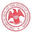 mississippi state rubber stamp vector image vector image