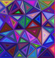 Multicolor triangle mosaic background design vector image vector image