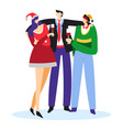 new year bush with friends or corporate office vector image