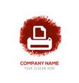 office printer icon - red watercolor circle splash vector image vector image