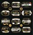 olive oil retro vintage background collection 8 vector image vector image
