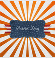 Patriot Day greeting Card Template vector image vector image