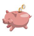 piggy money savings vector image vector image