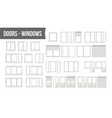 plastic pvc windows doors set different vector image vector image