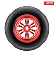 race wheel and tire symbol vector image vector image
