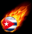 Round glossy icon of cuba vector image vector image