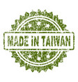 scratched textured made in taiwan stamp seal vector image vector image