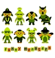 Set of colorful cartoon funny monsters vector image vector image