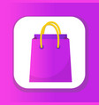 shopping bag icon flat style colorful shopping vector image vector image