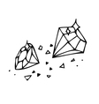 Sketch Brilliant Gems on a white background vector image vector image