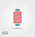 spool thread icon in flat style vector image vector image