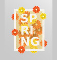 spring flower and weeding design elements vector image vector image