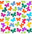 Spring seamless white pattern vector image vector image