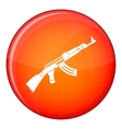 Submachine gun icon flat style vector image vector image