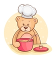 Teddy Bear chef vector image vector image