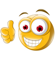 Thumb up emoticon for you design vector image