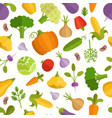 vegetables cartoon seamless vector image