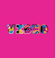 video concept word art vector image vector image