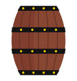 wine wooden barrel icon isolated vector image vector image