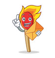 with envelope match stick character cartoon vector image