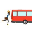 Woman missing bus vector image vector image