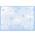 christmas or winter background vector image
