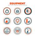 set of measure equipment premium design stamp vector image