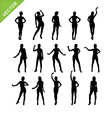 Sexy women silhouettes vector image